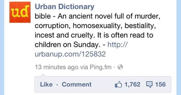 Urban Dictionary S Take On The Bible Lolsnaps Urban Dictionary Funny Urban Dictionary Funny Urban