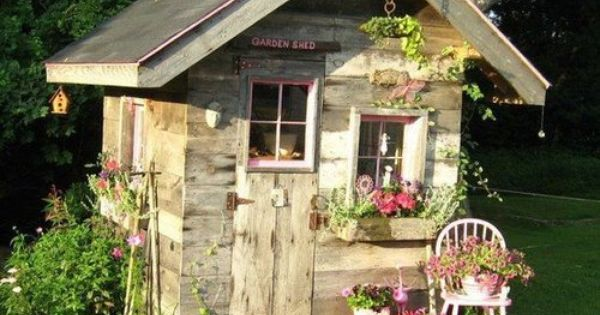 Cottage Garden Sheds | Garden cottage shed, I'm thinking a playhouse for