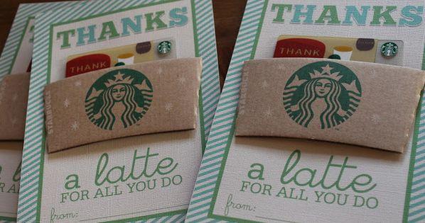 """Thanks a latte for all you do"" Starbucks Card - Creative Teacher"