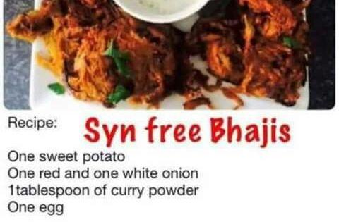 Syn Free Onion Bhajis Slimming World Recipes Slimming