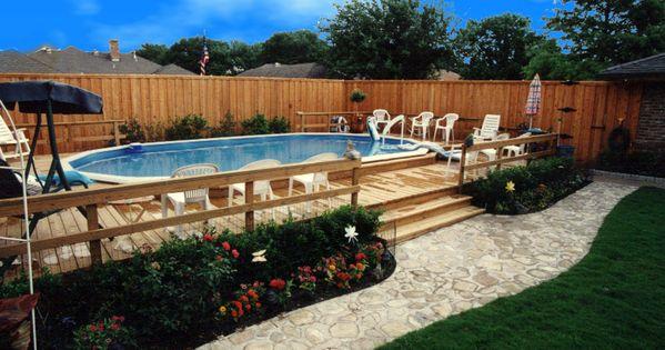 Decks for above ground pools flagstone walkway for above ground pool with luxury deck pool - Luxury above ground pools ...