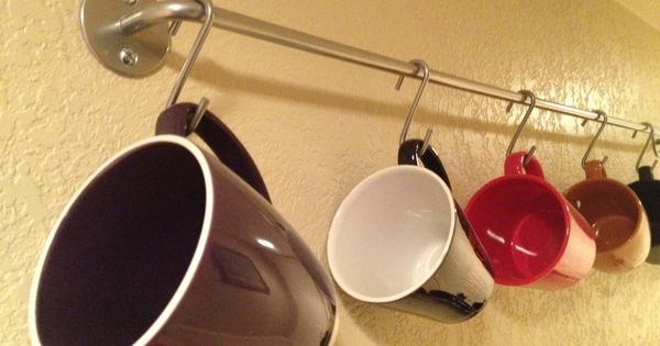 Hang 39 em an inexpensive ikea kook rod assembly for Ikea coffee cup holder