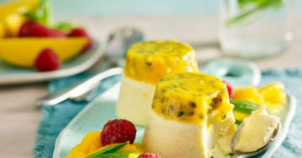 White chocolate and passionfruit panna cotta recipe Yahoo better homes and gardens