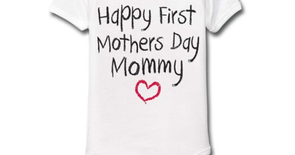 Happy First Mothers Day Mommy Funny Cute Baby Infant One