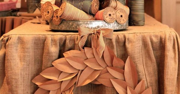 kraft paper wreath - I want to make creative handmade gifts handmade