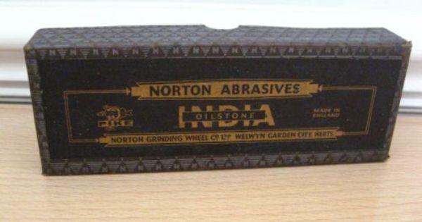 Norton Abrasives India Oilstone Ebay Hand Tools
