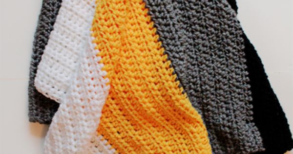 Crochet Pattern Steelers Afghan : Steelers Crochet Throw Blanket {FREE PATTERN} #pittsburgh ...