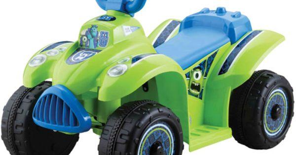 Walmart Riding Toys For Boys : Disney monsters university boys quad volt battery
