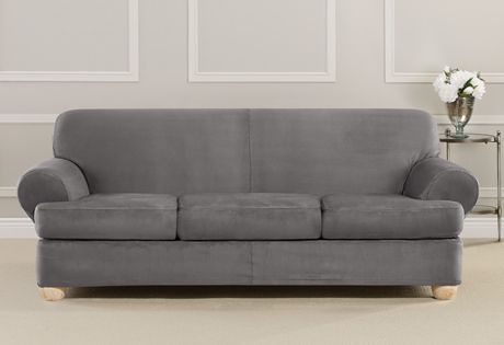 Striped Sofa And Loveseat