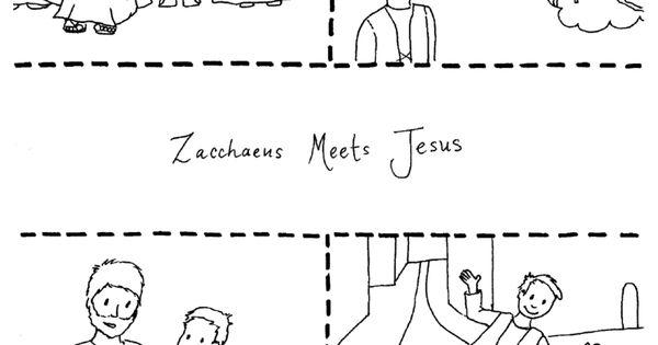 coloring pages zaccheus Jesus