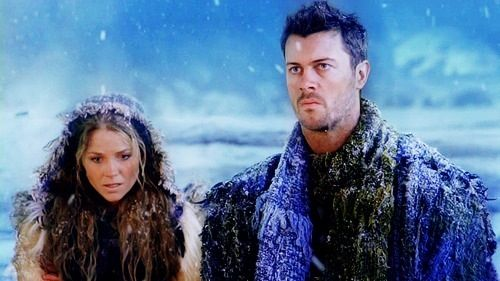 Saxa (Ellen Hollman) and Agron (Dan Feuerriegel) Spartacus ... Ellen Hollman Saxa