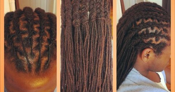 Cornrow style on locs natural hair | My work | Pinterest ...