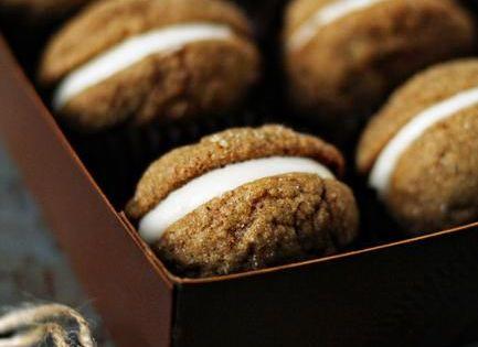 Pumpkin Molasses Sandwich Cookies | Molasses Cookies, Cream Cheese ...