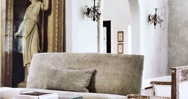 Gail Pachety Love The Armless Sofa And White Chair
