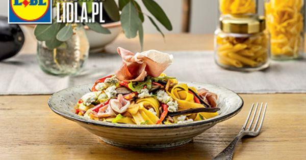Tagliatelle Z Baklazanem Papryka Rukola I Szynka San Daniele Przepis Recipe Food Tagliatelle Diet Recipes