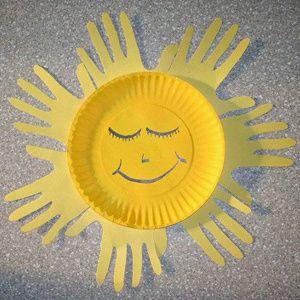 10 Easy Handprint Crafts For Kids Grandparents Com Sun Crafts Construction Paper Crafts Toddler Crafts