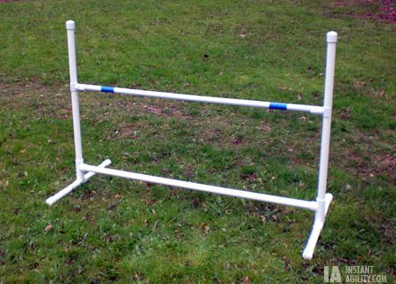 Make A Jump Bar Or Hurdle For Agility Instructions