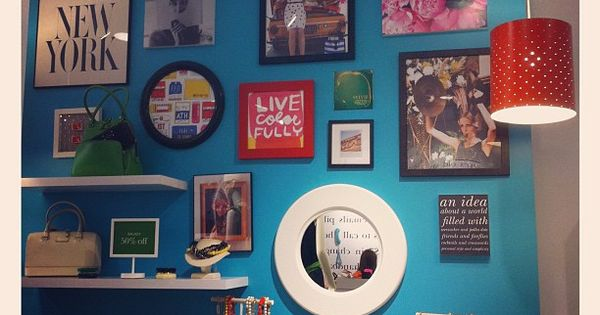 pop of color gallery wall