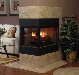 Two Sided Electric Fireplace Double Firebox