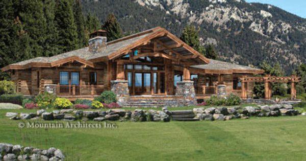 Log home plans precisioncraft log homes timber frame for Craftsman log homes