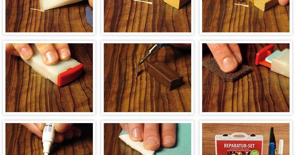 reparatieset parket laminaat voor de reparatie van beschadiging zoals krassen deuken. Black Bedroom Furniture Sets. Home Design Ideas