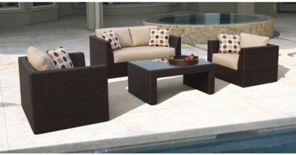 Target Lexus 4 Piece Wicker Patio Conversation Furniture