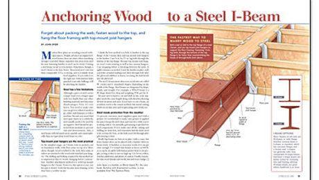 Anchoring Wood To A Steel I Beam Beams Steel Beams I Beam