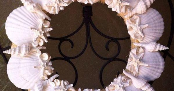 t r dekoration kranz rosa muscheln seesterne maritim herrlich pinteres. Black Bedroom Furniture Sets. Home Design Ideas