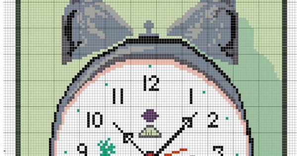Punto de cruz reloj de cocina punto de cruz pinterest for Cocinas punto com