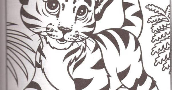 lisa frank coloring pages tiger - photo#15