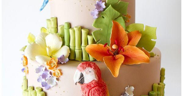 A JimmyBuffett themed cake