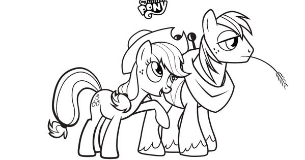 My Little Pony coloring and banners