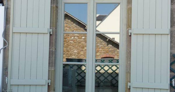 Porte fen tre 2 vantaux avec imposte petits bois coll s for Porte fenetre 4 vantaux accordeon