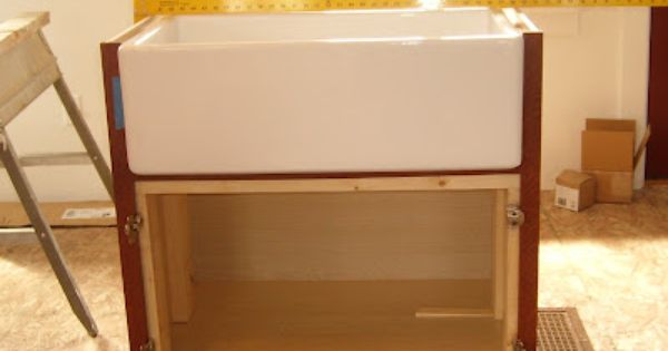 Important How To Build The Support For The Apron Sink Farmhouse Sink Installation Farmhouse Sink Farm Sink