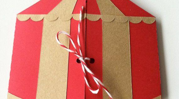 Invitation de fête anniversaire Cirque par LaMammaCreativa sur Etsy | compleanno | Pinterest ...