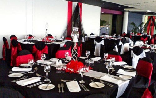 Red And Black Party Decorations Wedding