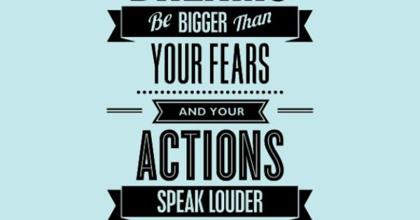 """Your Actions Speak Louder Than Words: Inspirational Quote Print """"Let Your Dreams Be Bigger Than"""