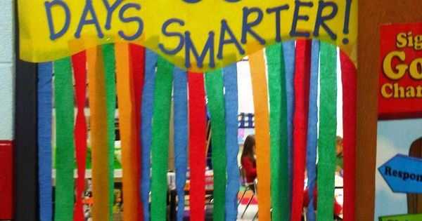 Door Decoration For The 100th Day Of School New
