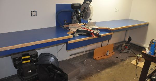 Ultimate Miter saw Counter With dust collection.Bosch ...