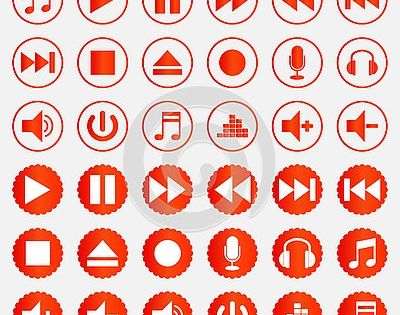 Download Music Player Icons Vector Color Set Button Play Pause Sound Stop Disc Dvd Fast Next Logo Player Svg Eps Png Psd Ai Vecto Color Set Vector Icon