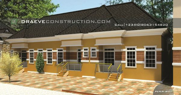 3 Units Of 1 Bedroom Apartments Building Plan Apartment Building 1 Bedroom Apartment Building Plan