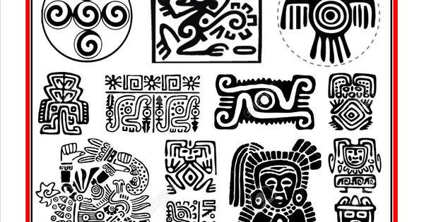 aztec symbols 1 ancient art pinterest azteca