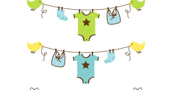 baby boy clothesline clipart clip art baby shower clip