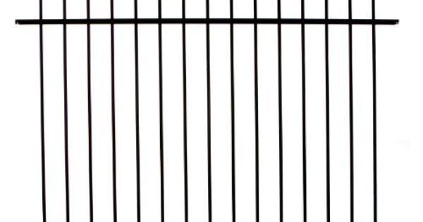 diy fence rr1483bl specrail branford aluminum 3 rail fence panel 48 inch by 6 feet by diy fence. Black Bedroom Furniture Sets. Home Design Ideas