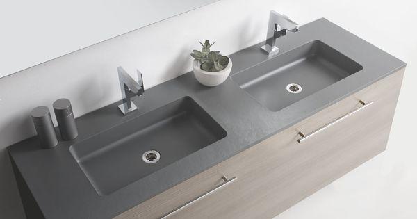 Wastafel op maat dubbele wastafel badkamerideeen pinterest - Moderne wastafel ...