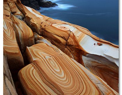 Liesegang Rings at Bouddi National Park, New South Wales, Australia ravenectar earth