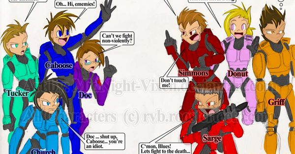 Red VS Blue .:fan art:. by MidNight-Vixen....... Grif and Geoff, I see no difference. | /LET'S PLAY COMMUNITY | Pinterest | Red vs blue and Fan art
