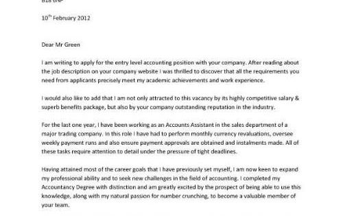 accountant application letter accountant cover letter