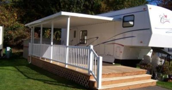 Drive Up Porch For An Rv Google Search Camping Pinterest An Porches And Decks