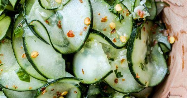 Cilantro-Lime Cucumber Salad: Lime Cucumber, Clean Eating, Salad Recipes, Cilantro Lim Cucumber,